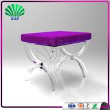 Hot Selling Plexiglass U-Shape Legs Stool Art Room Stool Acrylic Salon Saddle Stool
