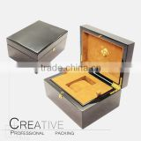 High gloss black Finish single Wooden Watch Box