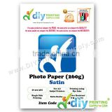 Photo Paper 260g (Satin) (50 sheets/pkt)
