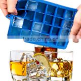 New product 24 checks silicone ice cube tray