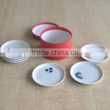 6pcs dessert plate set with attractive fruit design