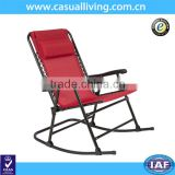 Hot Sell Folding Rocking Chair Foldable Rocker Outdoor Patio Furniture Red