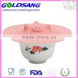 usable Microwave Yellow 17.5 cm (6.8 inch) Silicone Pig Drop Lid