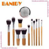 China Manufacturer 11PCS Bamboo Makeup Brush Set