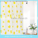 2016 Simple <b>Curtain</b> Design With Printing, Little <b>yellow</b> duck PEVA <b>Shower</b> <b>Curtain</b>