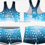 Bule star design wholesale dance costumes custom dance team uniforms