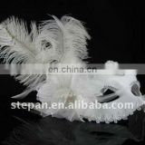 TZ-B18 ostrich feathers for masks,ostrich hair party mask