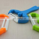 Promotional gift funny man design ceramics zester with plastic handle for peel cutting