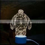 Christmas Gift arcylic Big white shape led light for home decoration/OEM creative design led light for Christmas day