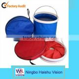 Outdoor Camping Folding Collapsible Bucket Barrel-13L-zipper bag