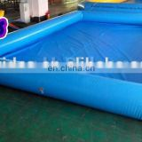 Shallow Blue Color Quadrate Single Tube Inflatable Water Swimming Pool