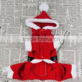 Fleece Material Suitable for Spring/Early Autumn Classic Christmas Santa Claus Dog Clothes