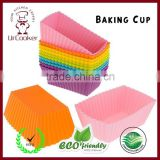Mini Rectangle Reusable Cupcake and Muffin Baking Cup
