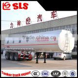 China price 3 axles oil tank semi-trailer oil transport truck for flammable liquid rear axles with air suspension