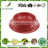 Good appearance Decal design OEM available bamboo fiber cat bowls