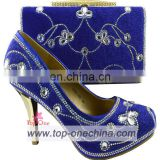 Royal blue Italian shoes and bags to match women/Italian pumps shoes and bags/shoes matching bags for party