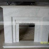 camino white marble fireplace
