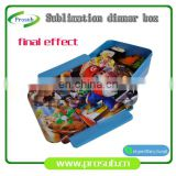 sublimation kids plain plastic lunch box ,medium meal box tableware Easy-Open