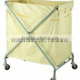 hotel linen cart,SMSC-005 hotel maid's cart,round linen trolley