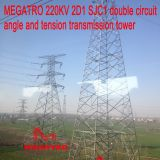 MEGATRO 220KV 2D1 SJC1 double circuit angle and tension transmission tower