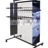 practical double sided floor wire mesh display racks and stands