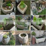 small decorative garden trough,stone flower pot