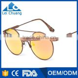 good price and high quality alloy frame round fashion sunglasses for woman