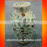 Chinese Unique Elegant Colored Mosaic Glass Vases