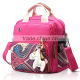 wholesale new fashion red color custom print Boho back pack