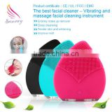 hot selling deep pore cleansing silicone face brush wholesale silicone facial cleansing brush