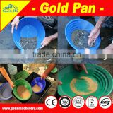 Alluvial wooden gold panning pans