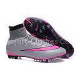 Superfly Football Boots AG Men\'s Cleats Soccer Shoes Wolf Grey pink
