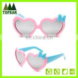 Fashion heart shaped frame kid sunglasses cheap plastic children sunglasses