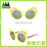 2016 Hot sale cute cat ear funky children kids sunglasses