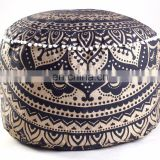 New Ombre Design Indian Living Room Pouf Cover Black and Gold Ottomans Wholesale Pouf covers