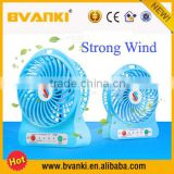 2015 Promotional mini usb fan with strong wind, rechargeable fan, portable mini fan home appliances