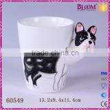3d custom animal desgin ceramic drinking cup