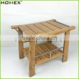 Bamboo Spa Shower Bench with Contoured Seat Homex BSCI/Factory