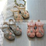 B20354A 2017 new fashion baby sandals soft sole preety floral sandals girls hollow out sandals