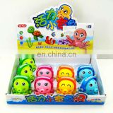 Cuddly dancing octopus wind up promotion toy for children in 4 colors HC85590