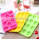 2016 summer hot selling silicone fruit ice cube tray
