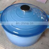 2017 Hot sale Colorful enamel cast iron cooking pot