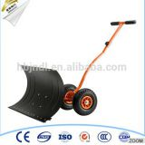 Adjustable Handle push snow shovel with wheel tool cart