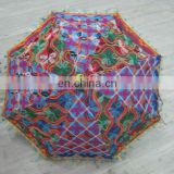 Handmade Sun Parasol Cotton Umbrella Vintage