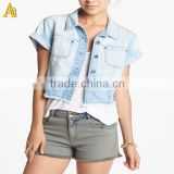100% Cotton custom women denim shirts
