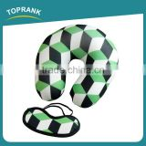 Toprank Wholesale Design Custom Logo Magic Cube Printed Eyemask Microbead Neck Pillow Travel Sleep Set Travel Airline Kit