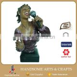 20 Inch Resin Black Singer Jazz Figurines Musician Statues