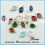 various color glass stone pendant brass pendant jewelry