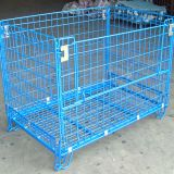 Stainless Steel Pallet Wire Mesh Storage Container For Warehouse