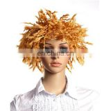 MPW-0507 festival club party theme gold wig for halloween carnival